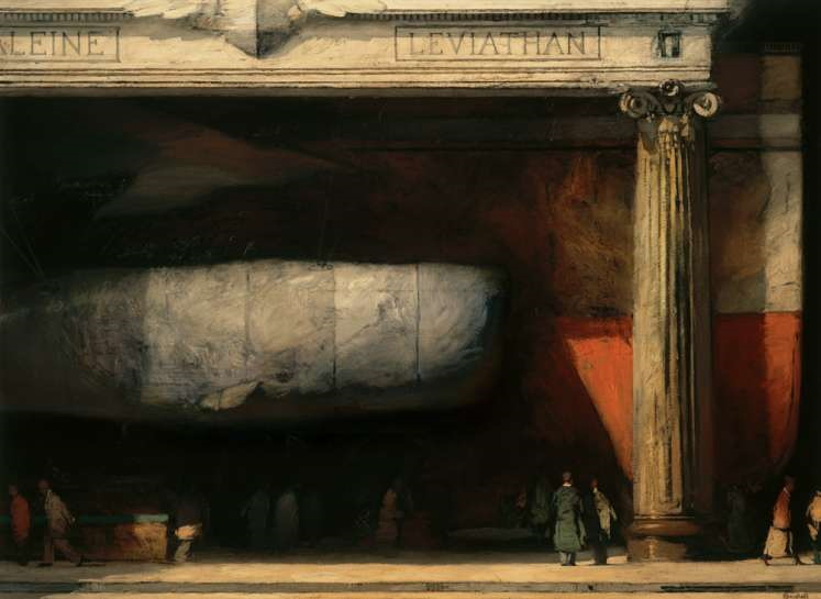 Leviathan, 52'' x 72'', oil on canvas, 1996