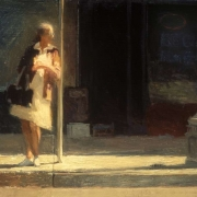 "Alameda Street, 39"" x 46"", oil on canvas, 1984"