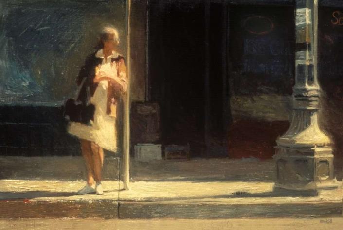 "Alameda Street, 39"" x 46"", oil on canvas, 1984"