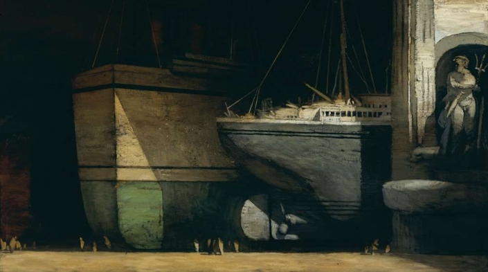 "City of Ships, 54"" x 96"", oil on canvas, 1998"