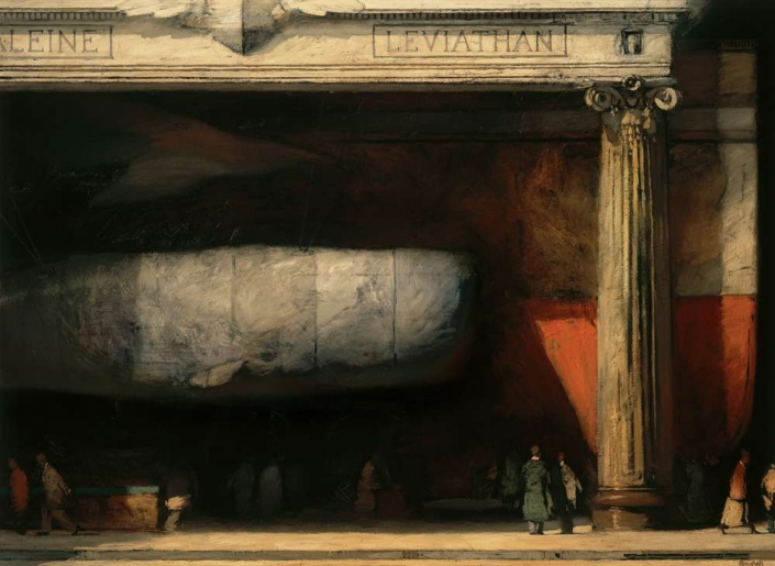 "Leviathan, 52"" x 72"", oil on canvas, 1996"