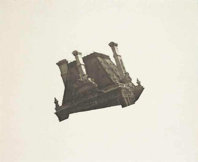 Louvre in Flight, photogravure, 1999