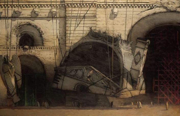 "Reverie, 54"" x 84"", oil on canvas, 1999"