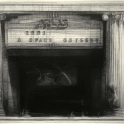 "The Atlas, 34"" x 45"", charcoal on paper, 1992"