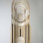 "Unfinished Cathedral, 111"" x 41"" x 18"", wood, oil paint, 1988"