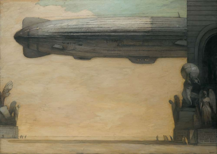 """Voyage, 54"""" x 76"""", oil on canvas, 1997"""